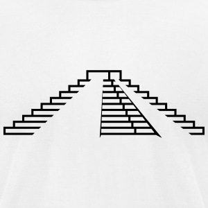 Maya,step pyramid,stages,pyramid,building,temple T-Shirts - Men's T-Shirt by American Apparel
