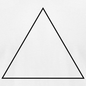Triangle,equilaterally,in an equal-leg way,identic T-Shirts - Men's T-Shirt by American Apparel
