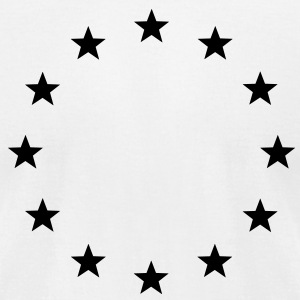 European stars, European Union, Europe, stars T-Shirts - Men's T-Shirt by American Apparel