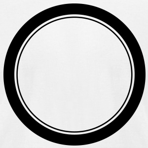 Circle, ring, plate, hole T-Shirts - Men's T-Shirt by American Apparel