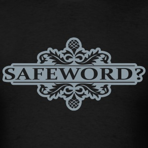 Safeword in Metallic Silver - Men's T-Shirt