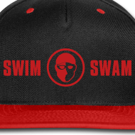 Design ~ SwimSwam Red 'n Black Snap Back