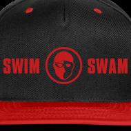 Design ~ SwimSwam Red 'n Black Snap Back
