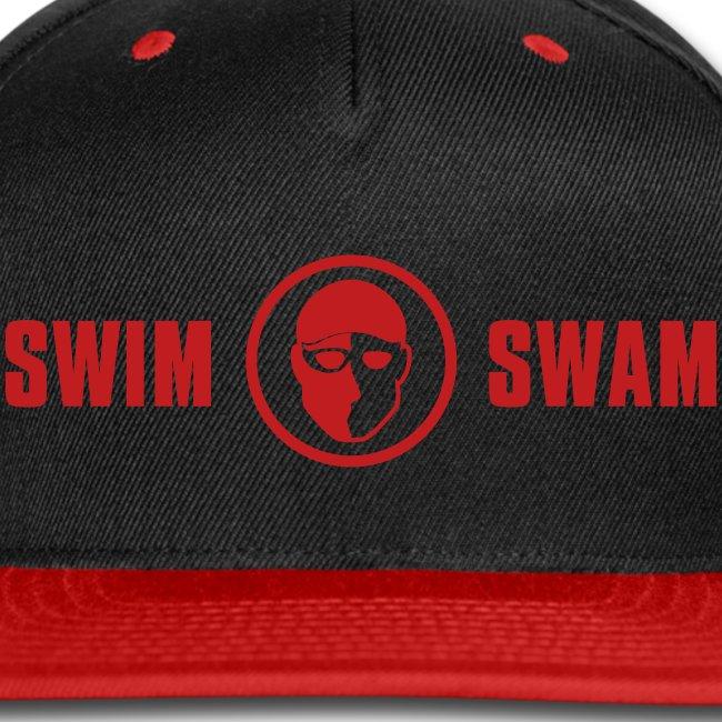 SwimSwam Red 'n Black Snap Back