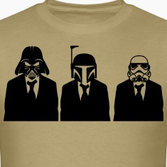 vader, fett, & stormtrooper in suits 1_ T-Shirts