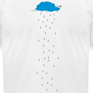 Cloud Rain Weather Water 2c T-Shirts - Men's T-Shirt by American Apparel
