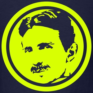 Nikola Tesla - negative portrait T-Shirts - Men's T-Shirt