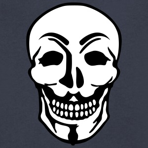 Anonymous and skull pirate symbol T-Shirts - Men's V-Neck T-Shirt by Canvas