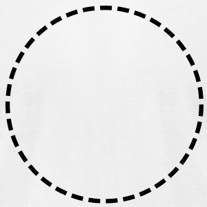 Circle, broken, broken line, approximately, gaps T-Shirts - Men's T-Shirt by American Apparel