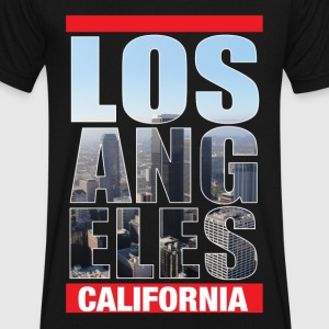 Los Angeles California - Men's V-Neck T-Shirt by Canvas