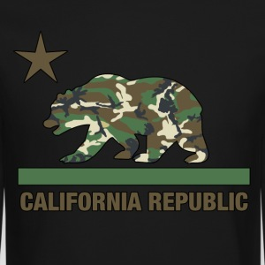 california republic camouflage - Crewneck Sweatshirt