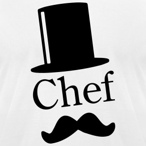Like a Chef / Mustache / Moustache 1c T-Shirts - Men's T-Shirt by American Apparel