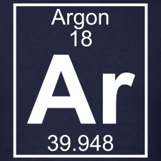 Element 018 - Ar (argon) - Full T-Shirts