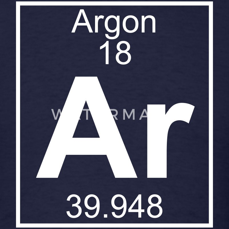 Element 018 - Ar (argon) - Full T-Shirts - Men's T-Shirt