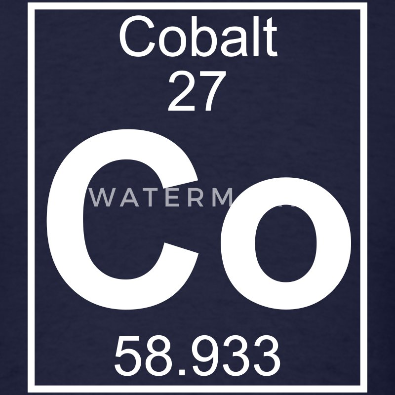 Element 027 - Co (cobalt) - Full T-Shirts - Men's T-Shirt