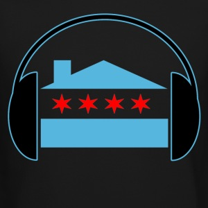 Chicago House Flag Headphones - EDM Long Sleeve Shirts - Crewneck Sweatshirt
