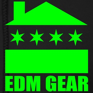 EDM Gear Logo Light (VECTOR) - EDM Zip Hoodies/Jackets - Men's Zip Hoodie
