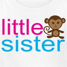Little Sister - Monkey Kids' Shirts
