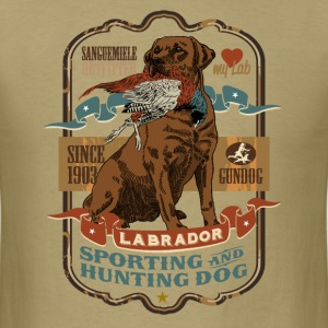 labrador_and_pheasant_c T-Shirts - Men's T-Shirt