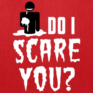 So I scare you? Zombie Halloween eating brains Bags & backpacks - Tote Bag