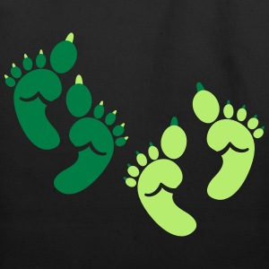 twins green OGRE feet! great for HALLOWEEN baby Bags & backpacks - Eco-Friendly Cotton Tote