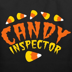 FUNNY HALLOWEEN candy inspector! candy corn Bags & backpacks - Eco-Friendly Cotton Tote