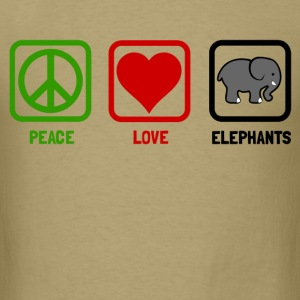 peace love elephants - Men's T-Shirt