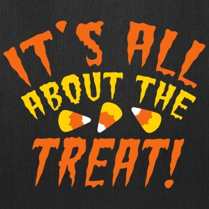 It's all about the TREAT! with candy corn Bags & backpacks - Tote Bag
