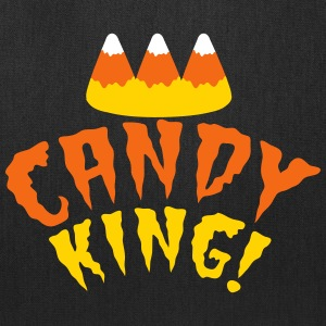 CANDY corn KING with crooked candy corn teeth Bags & backpacks - Tote Bag
