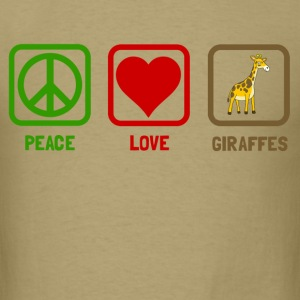 peace love giraffes - Men's T-Shirt