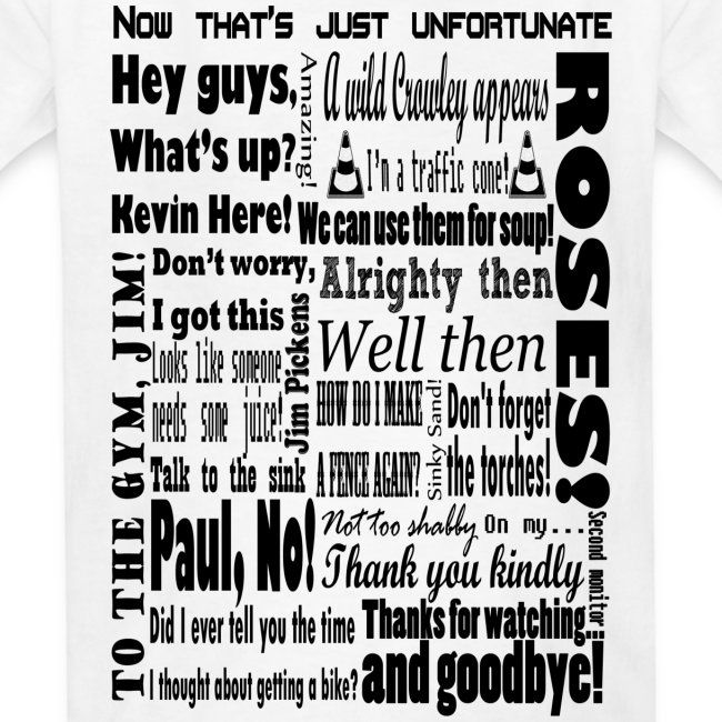 Kid's Kevin Phrases T-Shirt