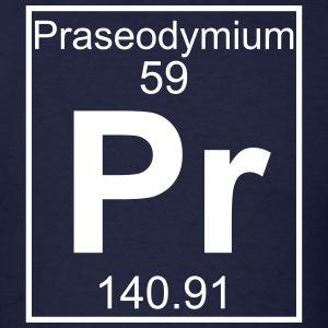 Element 59 - Pr (praseodymium) - Full T-Shirts - Men's T-Shirt