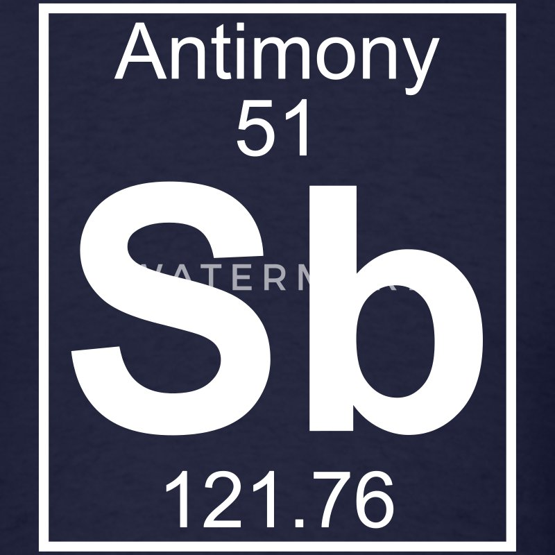 Element 51 - Sb (antimony) - Full T-Shirts - Men's T-Shirt