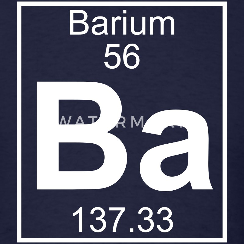 Element 56 - Ba (barium) - Full T-Shirts - Men's T-Shirt