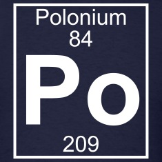Element 84 - Po (polonium) - Full T-Shirts