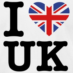 I heart the United Kingdom (FOR WHITE) T-Shirts