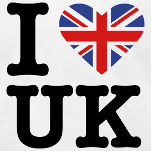 I heart the United Kingdom (FOR WHITE) T-Shirts - Men's T-Shirt by American Apparel