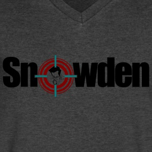 snowden T-Shirts - Men's V-Neck T-Shirt by Canvas