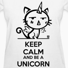 Cat unicorn - keep calm T-shirts