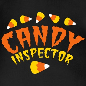 FUNNY HALLOWEEN candy inspector! candy corn Baby & Toddler Shirts - Short Sleeve Baby Bodysuit