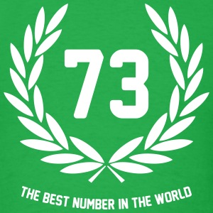 73 - The Best Number In The World - Men's T-Shirt
