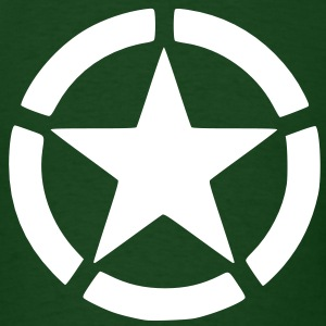 Men's Green Army Star Shirt - Men's T-Shirt