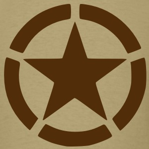 Men's Brown Army Star Shirt - Men's T-Shirt