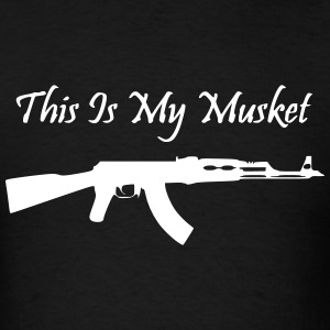 Men's Black This is my Musket Shirt - Men's T-Shirt