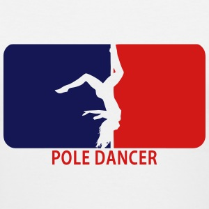 Pole Dancer Upside Down - Women's V-Neck T-Shirt