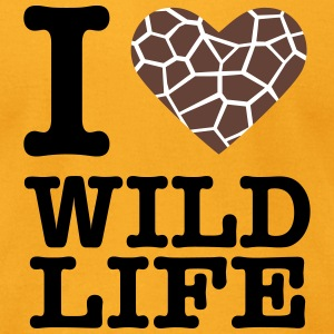 I love Wildlife (GIRAFFE) T-Shirts - Men's T-Shirt by American Apparel