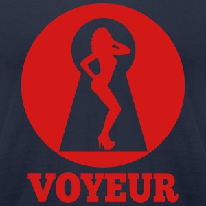 Keyhole Voyeur T-Shirts - Men's T-Shirt by American Apparel