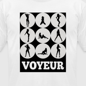 Voyeur 9 T-Shirts - Men's T-Shirt by American Apparel