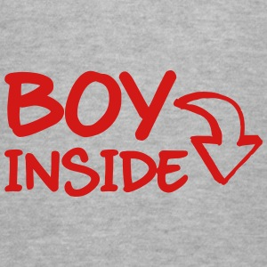 Boy Inside Women's T-Shirts - Women's V-Neck T-Shirt