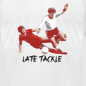 Late Tackle T-Shirts - Men's T-Shirt by American Apparel